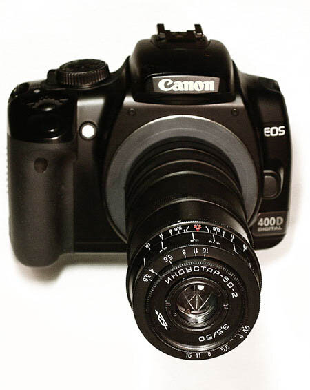 """""""Индустар-50-2"""" на Canon-400D"""