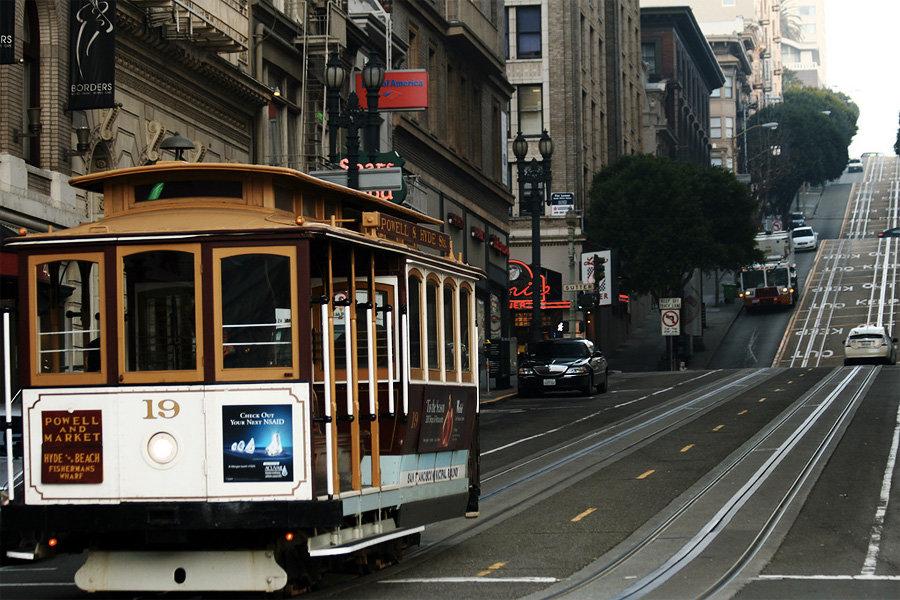 Канатный трамвай в Сан-Франциско, США  - фотография 1 из 3 - Redigo.ru