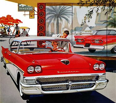 ретро автомобили рисунок de soto