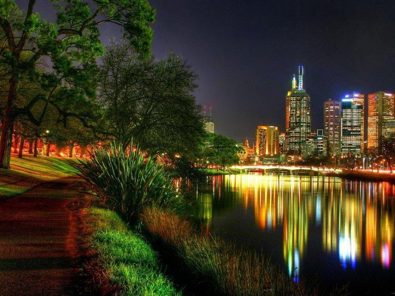 Красивые фотографии ночных городов. » Поржать.ру