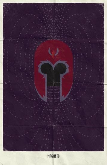 Magneto. Минималистичный постер