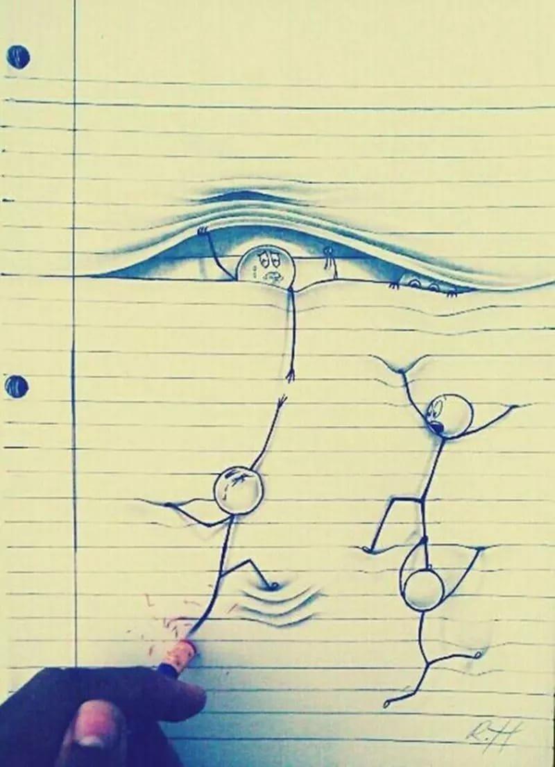 Рисунки в тетради