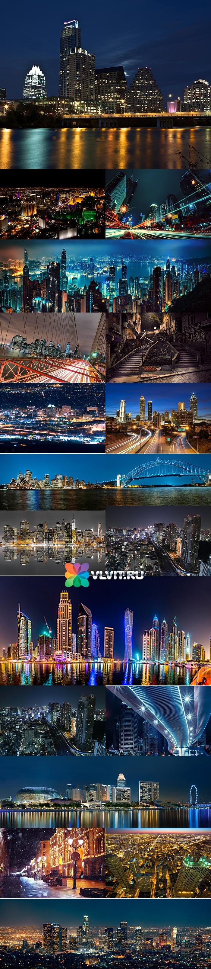 Сборник панорам ночного города