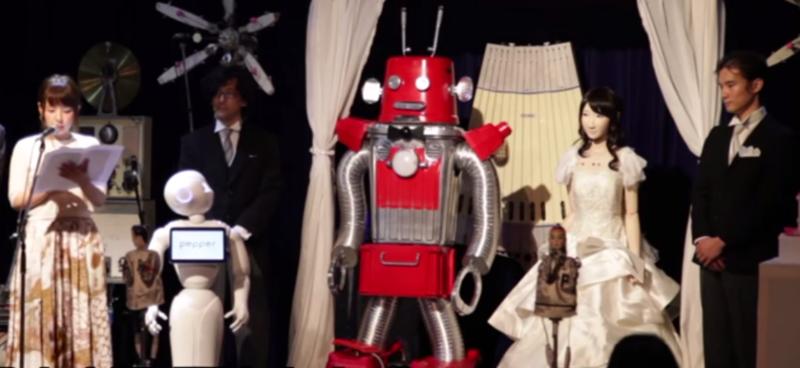 В Японии прошла первая в мире свадьба роботов