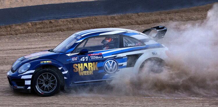 Volkswagen «Жук» с ливреями Discovery Channel для ралли-кросса