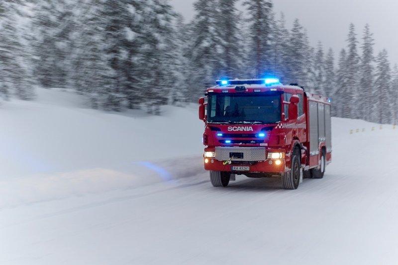 Зимний тест-драйв Scania