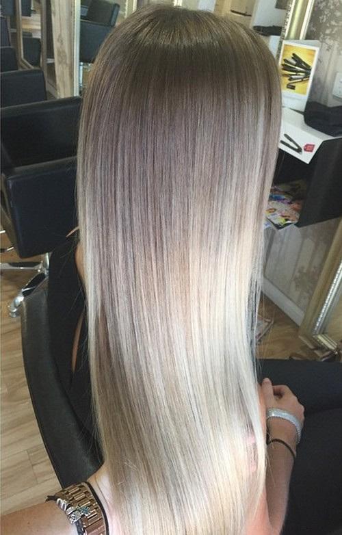 Dark Ash Brown Hair Blonde Balayage Long Hairstyles Gray Card