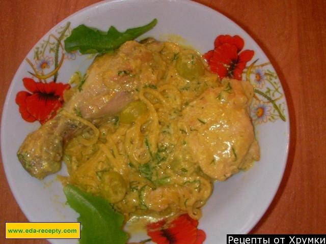 Курица с виноградом рецепт фото