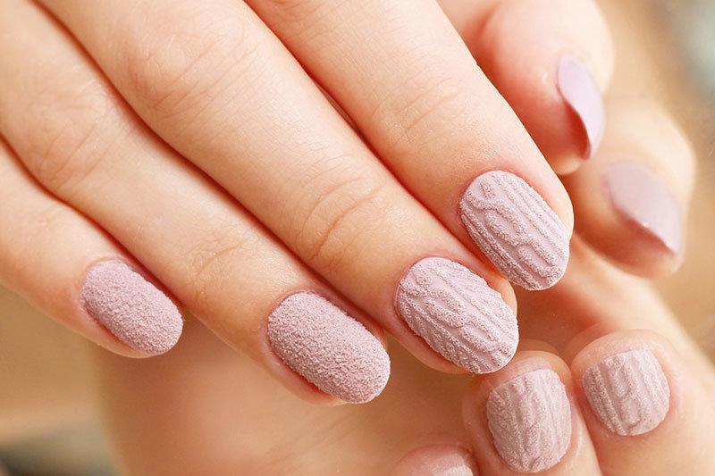Дизайн вязанный на ногтях