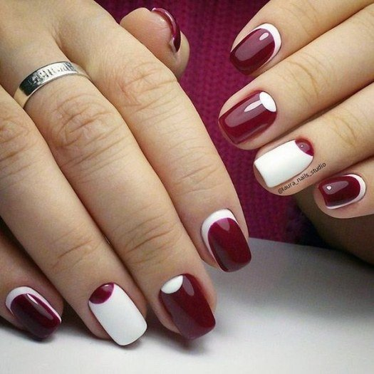 Дизайн ногтей белый гель