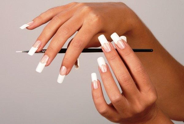 фото френч на длинные ногти