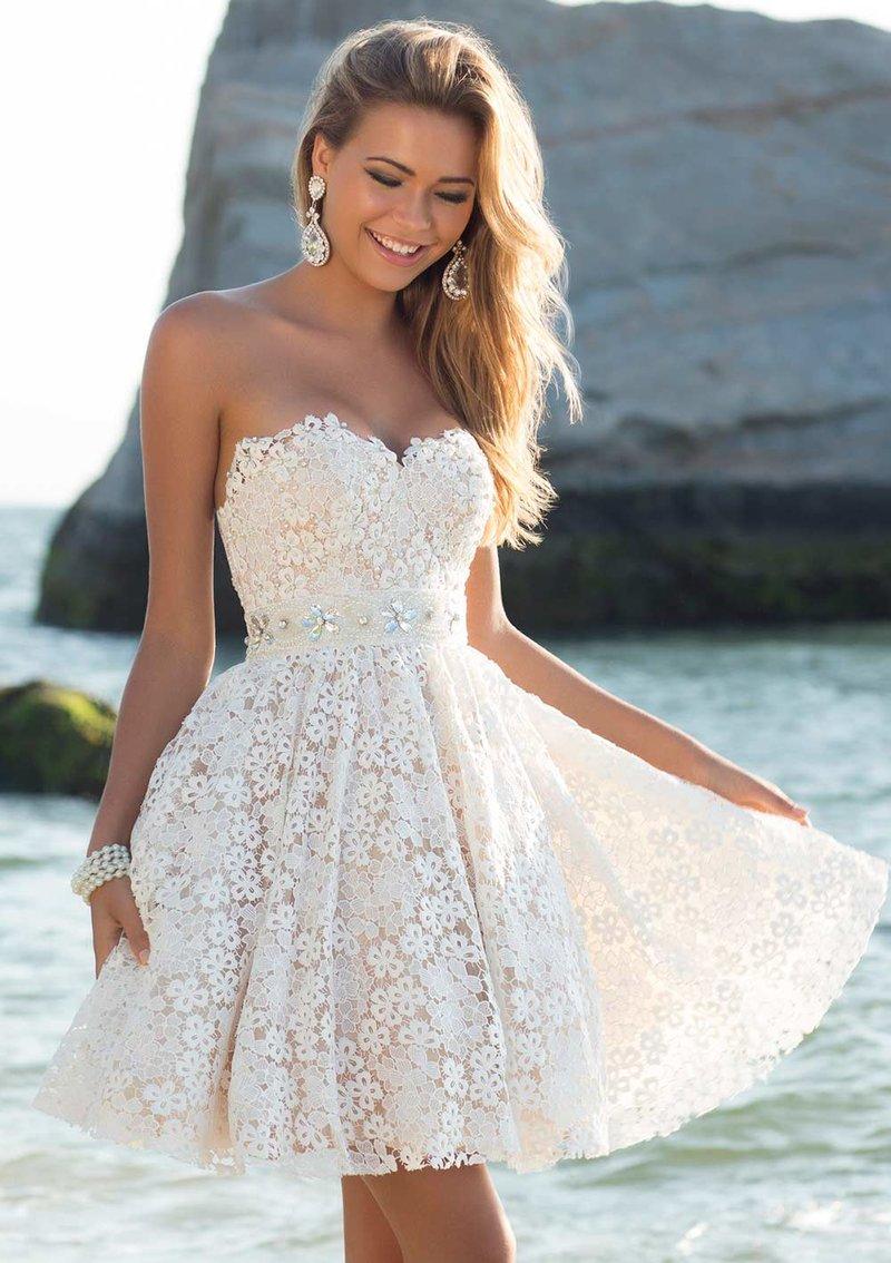 Недорогие свадебные короткие платья фото