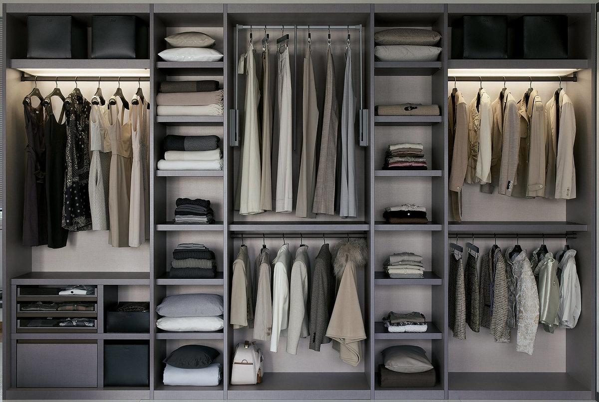 Фото оптимального расположения полок в шкафу