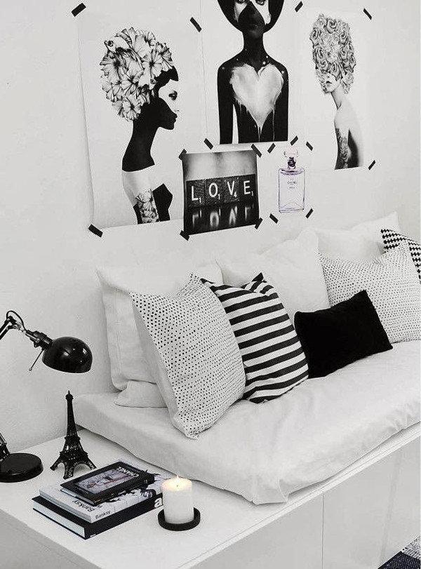 Картинка в комнату черно белая