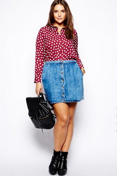 Джинсовые юбки для полных женщин: 14 лучших моделей, фото