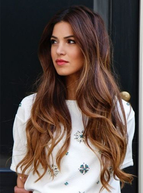 Hair Color Ombre Balayage Dark Hair With Highlights