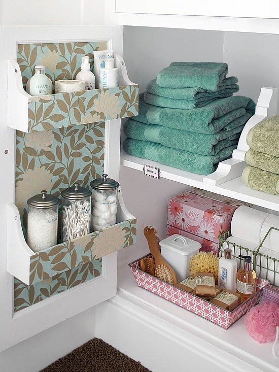 идеи хранения в ванной комнате
