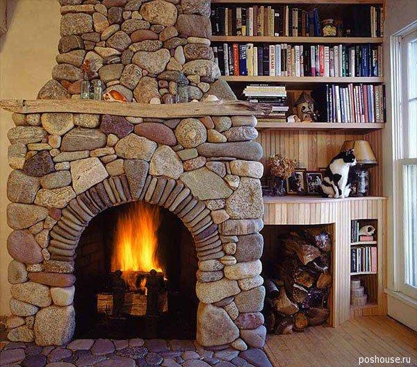 камины +в доме фото