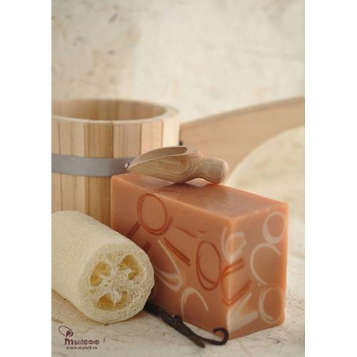 Купить Мыло ручной работы Ваниль с карамелью 1гр. - интернет-магазин Банный двор