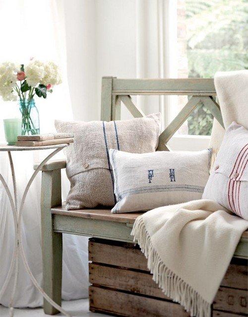 Льняной текстиль в интерьере