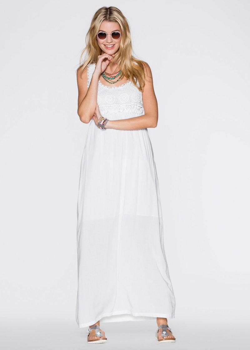 Макси-платье белый - RAINBOW купить онлайн - bonprix.ru