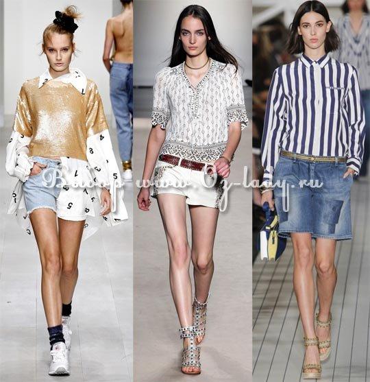 модные джинсовые шорты 2013