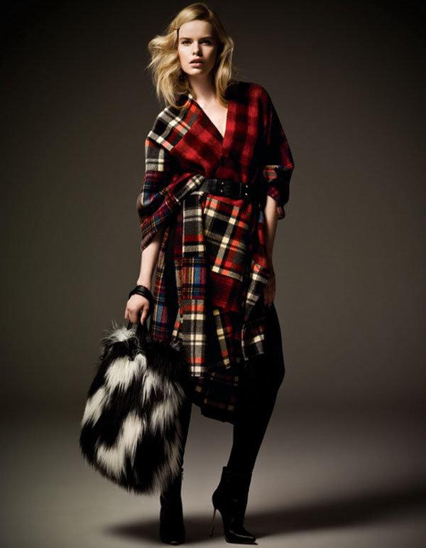 Модные пальто в клетку 2015-2016