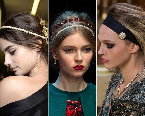Модные украшения для волос зима 2015