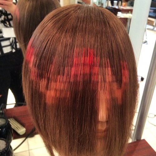 Новый тренд: пиксельное окрашивание волос (10 фото)
