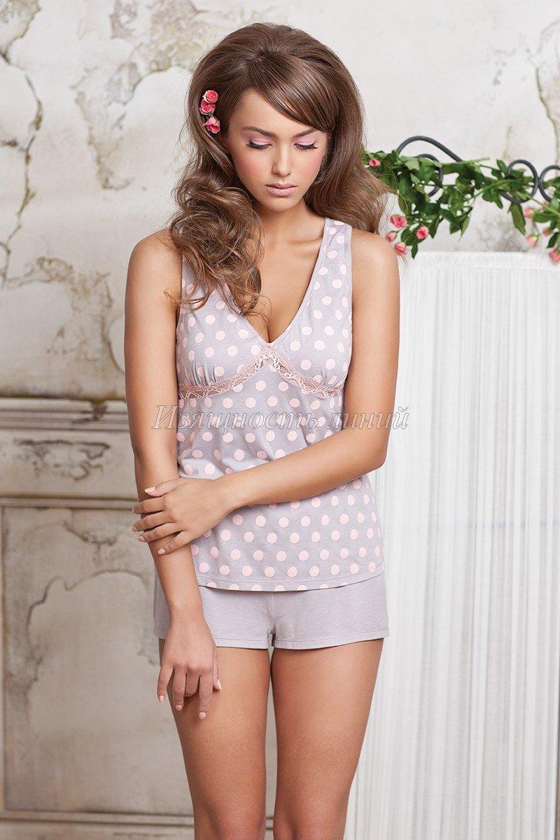 Шортики Rose&Petal; (сер/розовый) - купить  в интернет-магазине с доставкой в Москве и РФ