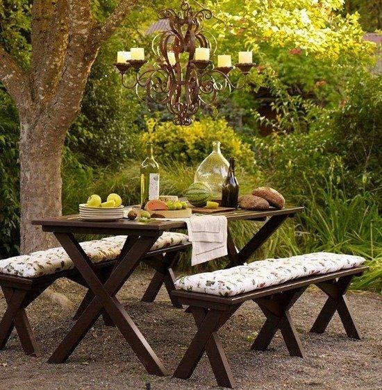 Отдых на даче, декор пикника в саду