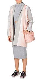 Пальто и платье The Fifth, кеды Love Moschino, сумка Elizabeth & James