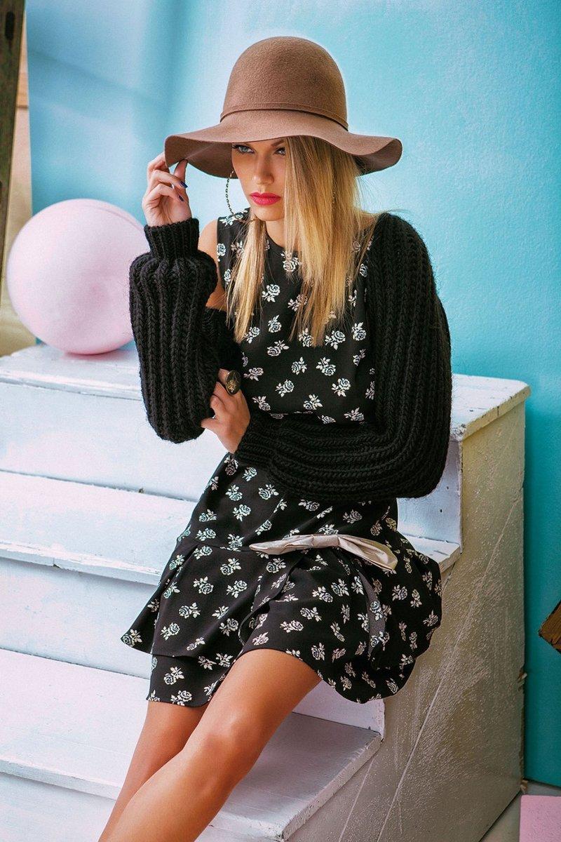 Платье DENNY ROSE art. 51DR12014 для Новогоднего вечера купить в интернет-магазине DENNY ROSE - shop. Каталог DENNY ROSE зима 2014 вечерняя новогодняя коллекция для встречи 2015 года..