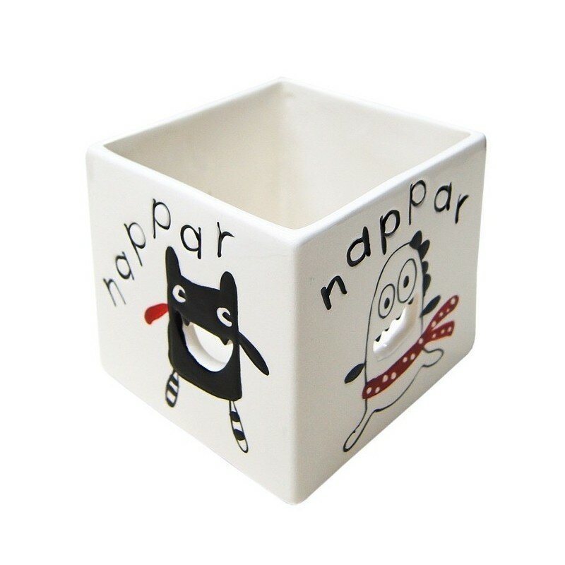"""Подсвечник """"Minimоnster"""" белый: цвет белый, керамика, Франция - артикул 4870 - Этажерка"""