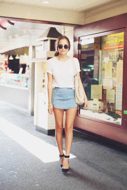 Расскажем с чем носить джинсовую юбку, чтобы выглядеть стильно (фото)