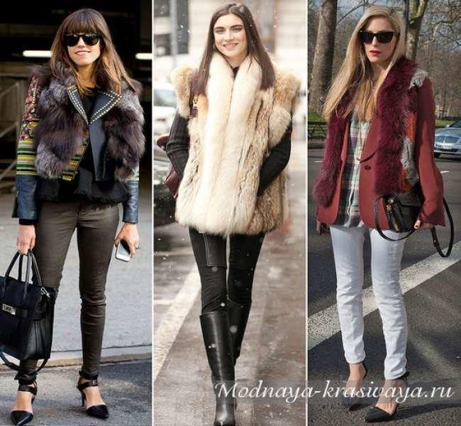 С чем носить меховой жилет? Модные варианты!
