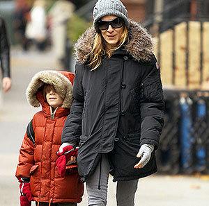 Сара Ждессика Паркер в куртке парке