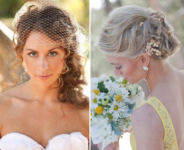 Свадебная прическа на средние волосы с фатой и диадемой. Свадебные прически на средние волосы: фото | LS