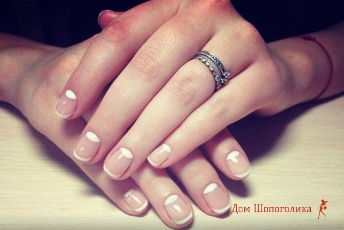 Свадебный маникюр на короткие ногти шеллаком, 20 фото