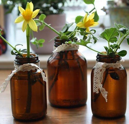 вазы из банок