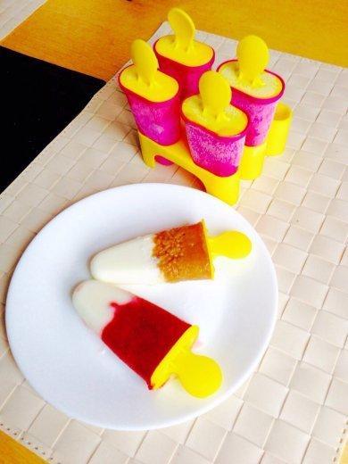 Летнее фруктово-йогуртное мороженое