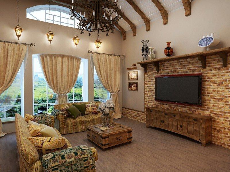 зал дизайн фото частный дом #11