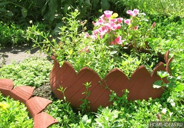садовые заборчики для клумб