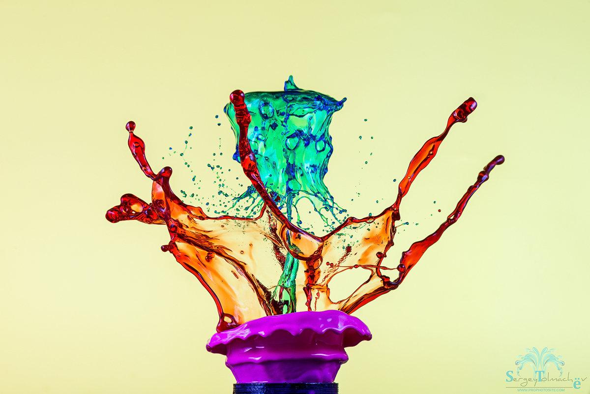 Красивые картинки с разноцветными брызгами