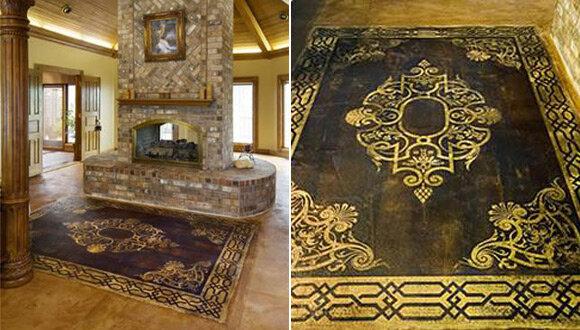 Узор и орнамент на полу в стиле ампир