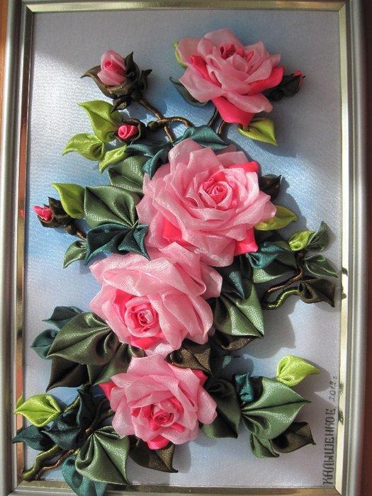 Картины своими руками из розы 312