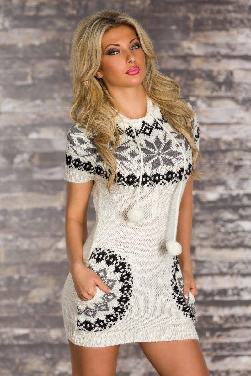 Белое женское платье короткое