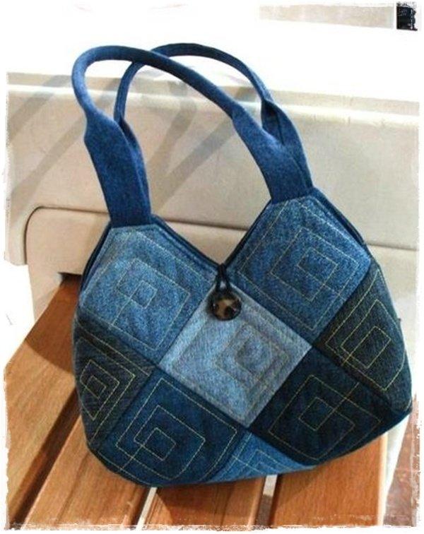 9ed886fa9ad8 Джинсовые переделки - сумка из джинсов.сумки из джинсовых обрезков ...
