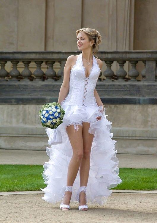 гинекологической фото невест в коротком платье компоненты полностью биоразлагаемы