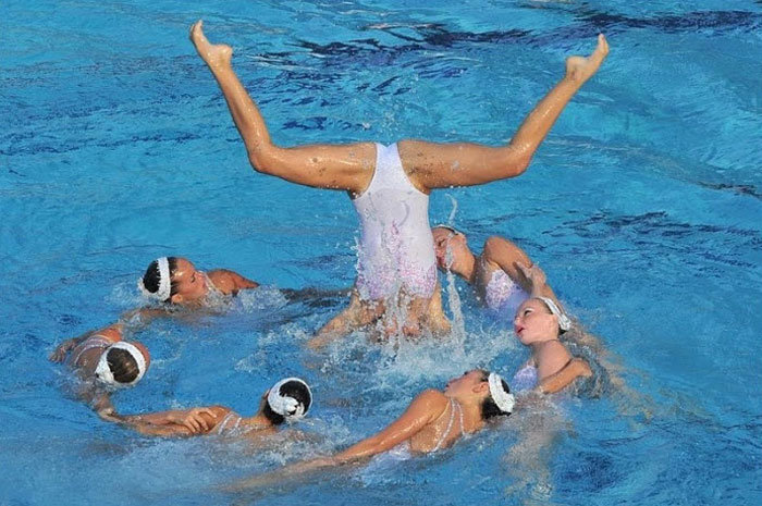 Synchronous swimming babes xxx consider